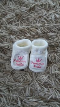 chaussons-bebe-princesse-personnalises